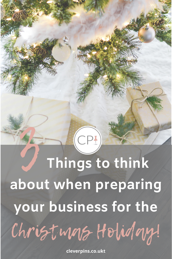 3 Things to think about when preparing your business for the Christmas holidays!