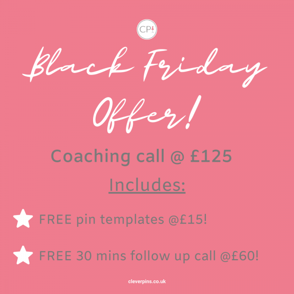 Text about Black Friday coaching offer