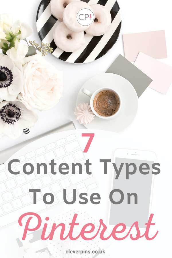 pin template for 7 content types to use on pinterest