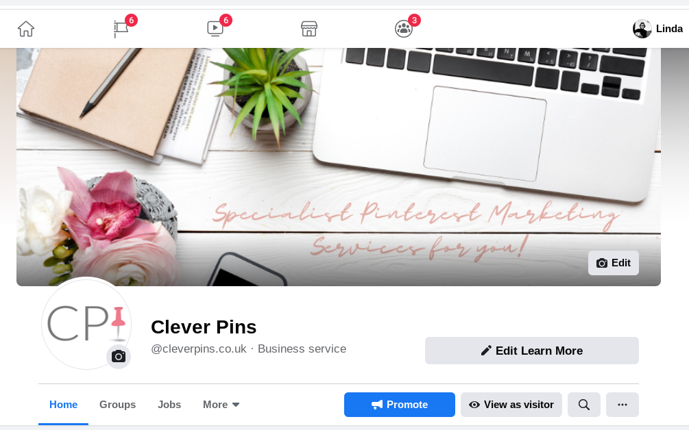 Screenshot of Clever Pins' Facebook page