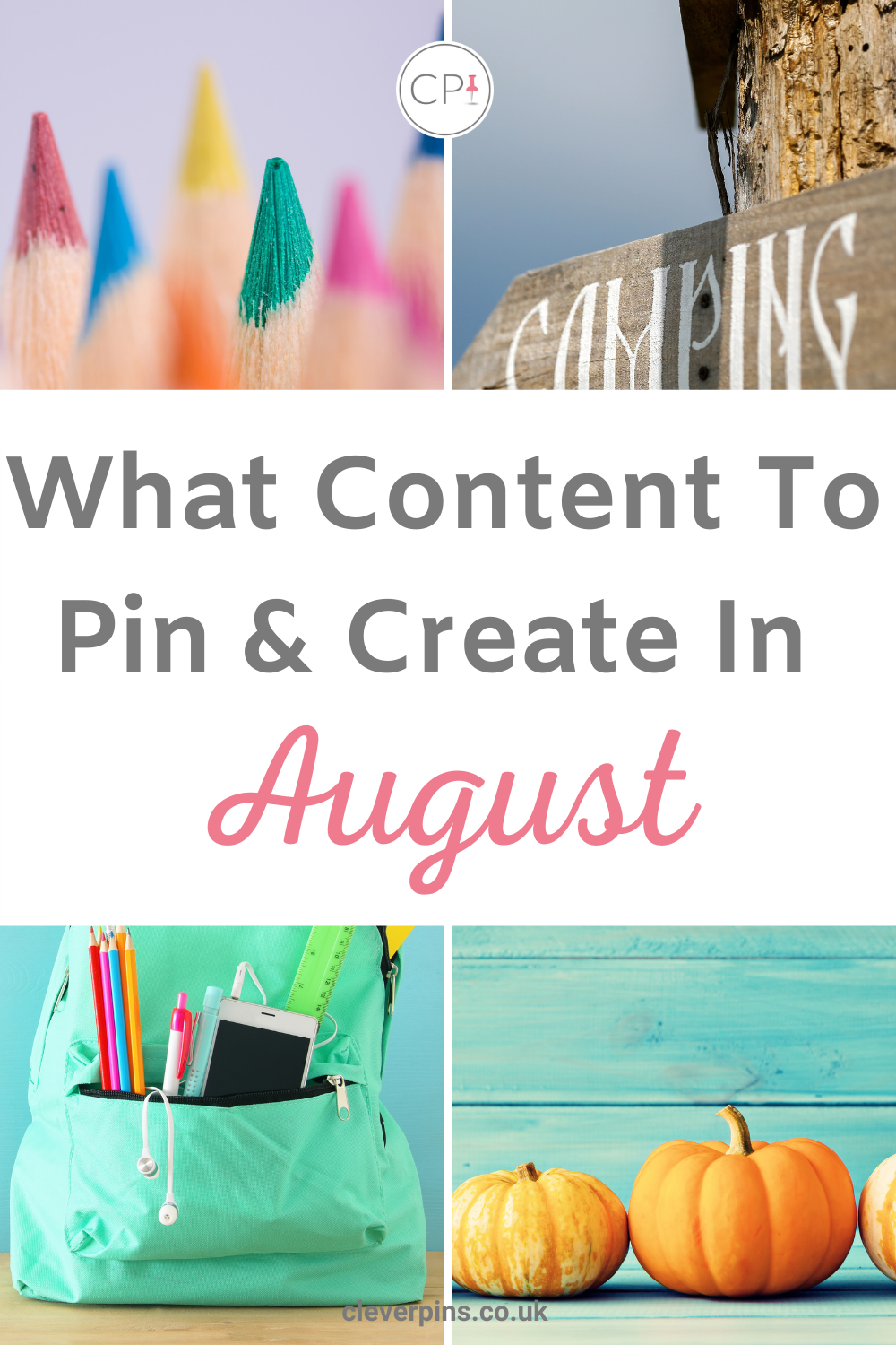 PIn Template for Pinterest August Trends